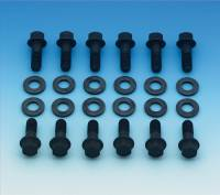 Mr. Gasket - Mr. Gasket Super Intake Manifold Bolts - Steel - Black Oxide - Hex Head - Chevy, Mopar, AMC - Set of 12