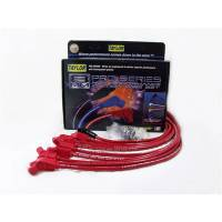 Taylor Cable Products - Taylor 8mm Spiro-Pro Wire Set - Red - 135° Plug Boots - HEI Distributor Boots - BB Chevy, Over Valve Covers