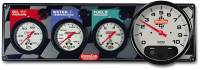 "QuickCar Racing Products - QuickCar 3 Gauge Panel - w/ 3-3/8"" Tachometer - OP/WT/FP w/ 3-3/8"" Remote Recall Tachometer"