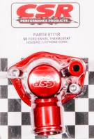 "CSR Performance Products - CSR Performance Swivel Thermostat Housing - SB Ford 289 - 302 - 351W - 1.5"" Hose - Red"