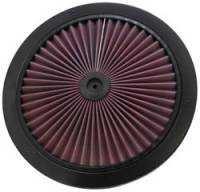 "K&N Filters - K&N Xstream® Air Flow Filter Top - 14"" - Black Trim Ring"