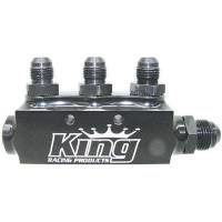 King Racing Products - King Fuel Block w/ Fittings