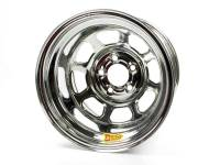 "Aero Race Wheel - Aero 58 Series Rolled Wheel - Chrome - 15"" x 10"" - 5 x 4.75"" Bolt Circle - 3"" Back Spacing - 21 lbs."