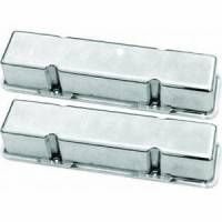 Racing Power - Racing Power Polished Aluminum Valve Covers - Tall - SB Chevy 58-86 Valve Covers - No Holes