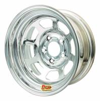 "Aero Race Wheel - Aero 50 Series Rolled Wheel - Chrome - 15"" x 10"" - 5 x 4.75"" Bolt Circle - 2"" Back Spacing - 25 lbs."