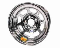"Aero Race Wheel - Aero 52 Series IMCA Rolled Wheel - Black Chrome - 15"" x 8"" - 5 x 5"" Bolt Circle - 3"" Back Spacing - 19 lbs."