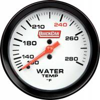 QuickCar Racing Products - QuickCar Extreme Water Temp Gauge w/ Built-In LED Warning Light - 2-5/8""