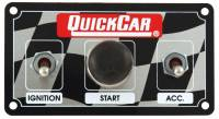 QuickCar Racing Products - QuickCar Single Ignition Dirt Ignition Control Panel W/ 3 Wheel Brake Switch