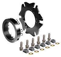 "Wilwood Engineering - Wilwood Splined Hub Kit Sprint Axle Clamp - 8 x 7.0"" Bolt Circle - 3.37"" x 2.28"" Rotor Mount"