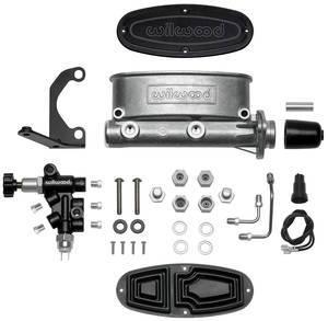 "Wilwood Engineering - Wilwood Aluminum Tandem Master Cylinder Kit w/ Bracket and Proportioning Valve - 1-1/8"" Bore"
