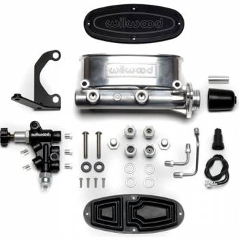"Wilwood Engineering - Wilwood Aluminum Tandem Master Cylinder Kit w/ Bracket and Proportioning Valve - 7/8"" Bore - Polished"