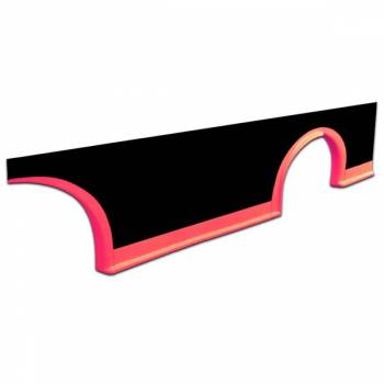 Five Star Race Car Bodies - Five Star MD3 Rocker Panel - Fluorescent Red