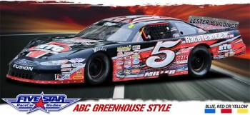 Five Star Race Car Bodies - Five Star Ford Fusion ABC Reskin Package - White - Greenhouse Roof Style
