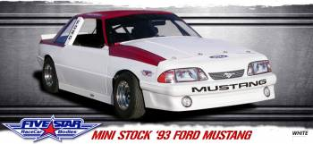 Five Star Race Car Bodies - Five Star 93 Ford Mustang Mini-Stock Steel Body Package