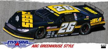 Five Star Race Car Bodies - Five Star Ford Fusion Complete ABC Body Package - Black - Greenhouse Roof Style