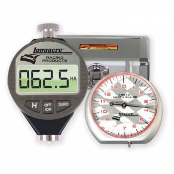 Longacre Racing Products - Longacre Digital Durometer & Dial Tread Depth Gauge w/ Silver Case