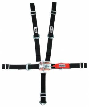"Crow Enterprizes - Crow 2"" Quarter Midget Latch & Link 5 Point Restraint System - 50'' Seat Belt w/ Individual Harness - Wrap-Around - Pull Down Adjust"