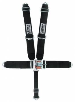 Crow Enterprizes - Crow Duck Bill 5 Point Latch & Link Restraint System - 55'' Seat Belt w/ Individual Harness - Bolt-In - Pull Down Adjust