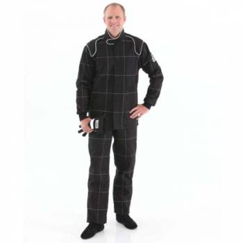Crow Enterprizes - Crow Quilted Two Layer Proban® Driving Suit - 2 Piece Design - Black