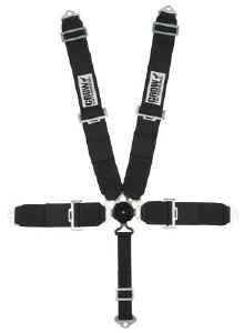 Crow Enterprizes - Crow Rotary Kam Lock 5 Point Restraint System - 50'' Seat Belt w/ Individual Harness - Bolt-In - Pull Down Adjust