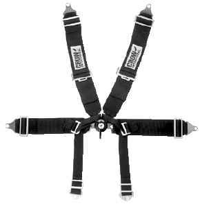 Crow Enterprizes - Crow Rotary Kam Lock Formula Type Car 6 Point Restraint System - 50'' Seat Belt w/ Individual Harness - Bolt-In