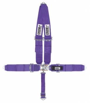 Crow Enterprizes - Crow Standard 5 Point Latch & Link Restraint System - 50'' Seat Belt w/ V-Type Harness - Bolt-In - Pull Down Adjust