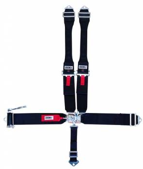 "Crow Enterprizes - Crow Sprint Car & Midget Ratchet Latch & Link Restraint System w/ 3"" Aluminum Adjuster- 55'' Seat Belt w/ Individual Wrap Around/Bolt-In Dog Bone Harness"