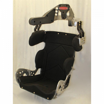 "Kirkey Racing Fabrication - Kirkey 79 Series Deluxe Sprint Car Full Containment Seat Cover (Only) - Black Tweed - 17"" - Fits #79170"