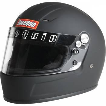 RaceQuip - RaceQuip Youth SFI 24.1 Full Face Auto Racing Helmet - Flat Black