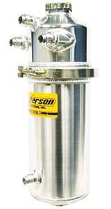 Peterson Fluid Systems - Peterson 2 Gallon Dry Sump Oil Tank w/ Single Scavenge Inlet -12AN Male Fittings