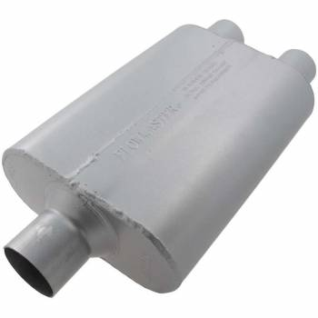 Flowmaster - Flowmaster 40 Delta Flow Muffler-2.50 Center In / 2.25 Dual Out - Aggressive Sound