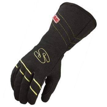 Simpson Hi-Vis Glove - Black w Yellow Trim
