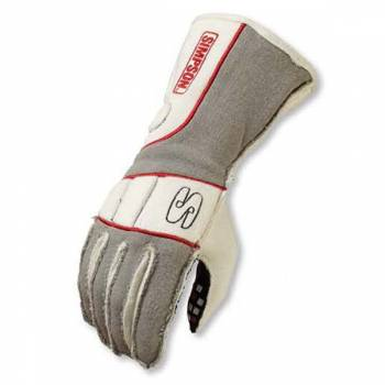 Simpson Vortex Auto Racing Gloves - White / Grey