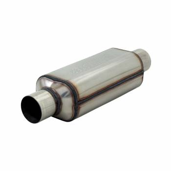 "Hushpower - Flowmaster HP-2 Series "" Shorty"" Muffler- 2.5"" Inlet, 2.5"" Outlet - 12"" Case - 304S"
