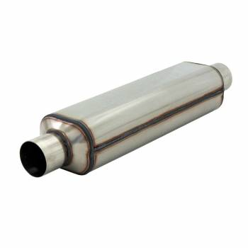 "Hushpower - Hushpower HP-2 Series Muffler - 2.5"" Inlet, 2.5"" Outlet - 18"" Case - 304S"