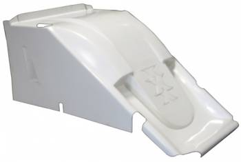 Triple X Race Co. - Triple X 600 Mini Sprint Hood - Dual Duct - White