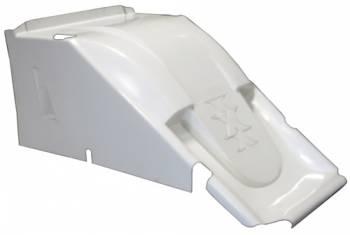 Triple X Race Components - Triple X 600 Mini Sprint Hood - Dual Duct - White