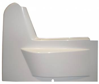 Triple X Race Components - Triple X 600 Mini Sprint Right Side Arm Guard - Wedge Style - White