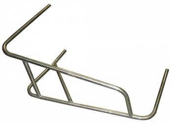 Triple X Race Co. - Triple X Sprint Car 3-Point Long Battle Bar Nerf - Raised Rail - Stainless Steel - Left