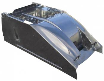 Triple X Race Co. - Triple X Sprint Car Dual Duct Cool Air Hood - Standard Height - Black