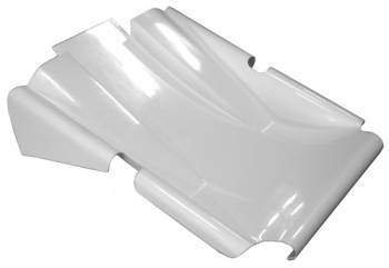 Triple X Race Co. - Triple X Sprint Car Dual Duct Clean Air Nose - Standard Height - White
