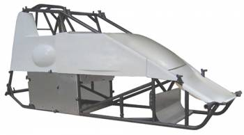 "Triple X Race Co. - Triple X X-Wedge Sprint Car Chassis w/ 2"" Taller Big Cage w/ Body and Tin Kit"