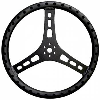 "Triple X Race Co. - Triple X Lightweight Aluminum Steering Wheel - 15"" Diameter - 1-1/4"" Tube - Black"
