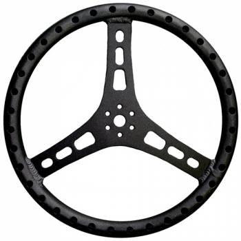 "Triple X Race Components - Triple X Lightweight Aluminum Steering Wheel - 15"" Diameter - 1-1/4"" Tube - Black"