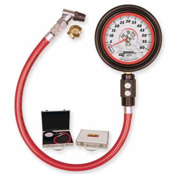 "Longacre Racing Products - Longacre Magnum™ 3-1/2"" Tire Pressure Gauge 0-60 psi By 1/2 lb"