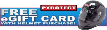 Get a Free Pit Stop USA eGift Card with Pyrotect SA2015 Helmet Purchase!