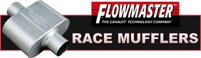 Flowmaster racing mufflers quiet race cars without reducing performance!