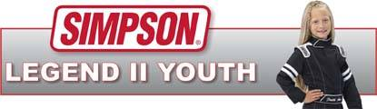 Simpson Youth Legend II is an affordable firesuit tailored to the needs of the youth racer!