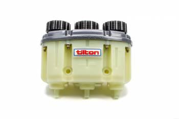 Tilton Engineering - Tilton 3-Chamber Plastic Master Cylinder Reservoir w/ Push-On Fittings