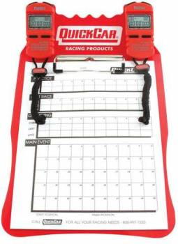 QuickCar Clipboard Timing System - Red - (2) Robic SC505 Watches